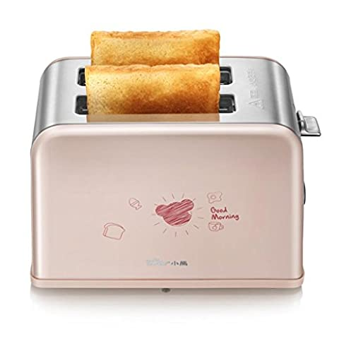 MNII 2 Slice Retro Toaster • 2 Slots • Warming Rack • 680 W • Defrost Funktion • Thawning und Reheating Funktion • Unendlich variable Bräunungssteuerung • Abnehmbarer Crumb Container • 6 Stände • Pink