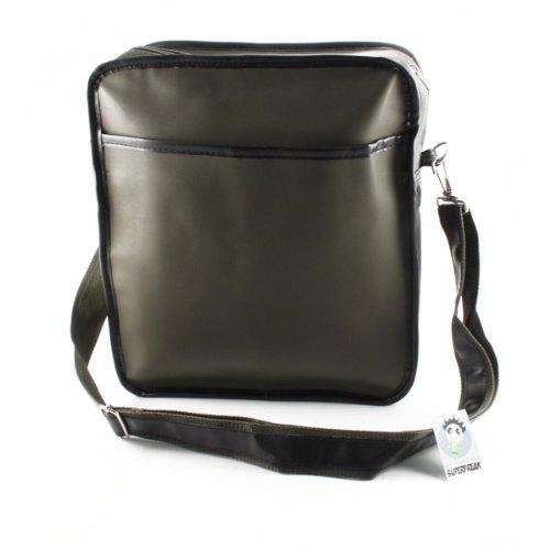 Superfreak® Tasche 70s Up Umhängetasche Serie S-7008, alle Farben!!! grün-oliv/schwarz