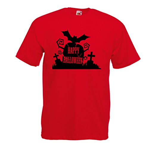 hirt Halloween-Friedhof - Kostüm-Ideen - Coole Kleidung Horror-Design - All Hallows 'Abend (Large Rot Mehrfarben) (Coole Paare Kostüm Ideen)