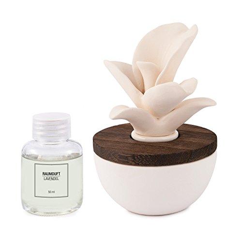 Pajoma Raumduft Geschenk Set mit Keramikblüte, 50 ml (lavendel) -