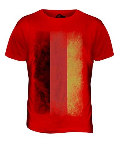 CandyMix Deutschland Verblichen Flagge Herren T Shirt Rot