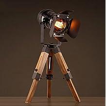 Lámparas de escritorio Lámpara de cabecera de estilo americano, lámpara de viento industrial creativa, lámpara de piso de hierro se puede levantar de escritorio lámpara de mesa