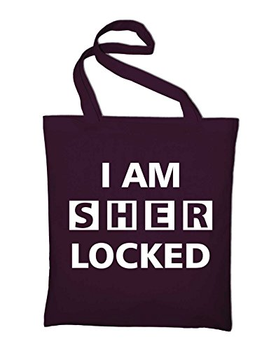 I Am Sherlocked – Sherlock Holmes iuta Borsa, YELLOW (giallo) - styletex23bagsherlock8 Bordeaux Red