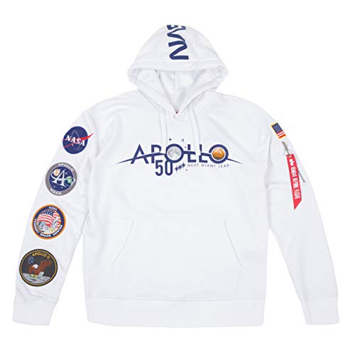 Alpha Industries Apollo 50 Patch Hoody Bianco S