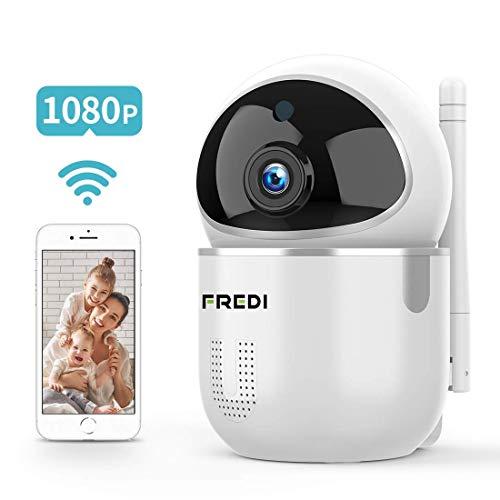 FREDI Cámara Vigilabebés Inalambrico Bebé Monitor,1080P HD Detección de Movimiento,Cámara Vigilancia WiFi Interior Inalámbrico, Compatible con iOS, Android