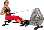 Sunny Health & Fitness Unisex Adult SF-RW5728 Air Magnetic Rowing Machine - Silver, One