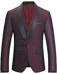 c308e7bda3e Costume Homme Tuxedo Diner Trois-pièces d affaire Mariage Business Suit Un  Bouton à la Mode Slim fit Veste +Gilet…