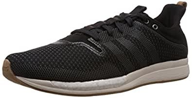 adidas Men's Adizero Feather Boost M Black, Off White and Brown Mesh Running Shoes - 12 UK