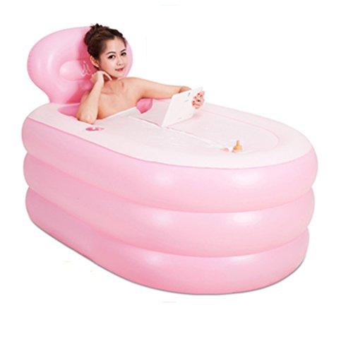GUORONG Aufblasbare Badewanne, Erwachsene zusammenklappbar abnehmbare kostenlose aufblasbare Badewanne Verdickung Isolierung Kunststoff Badewanne Kunststoff-Faltbad Dick warm Badewanne ( Farbe : #2 )