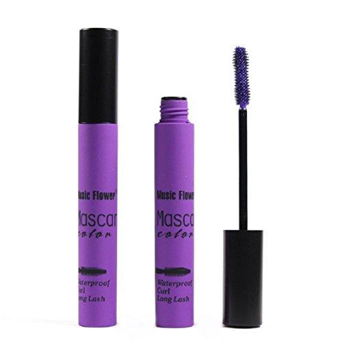 Culater® Imperméable à l'eau de Maquillage des Cils à Long Curling Cils de Mascara Prolongation Violet