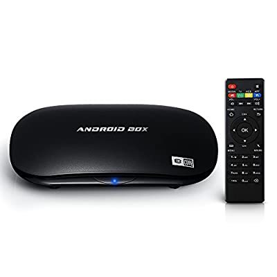 VicTsing® Octa-Core Android 5.1 TV Box Fully Loaded Streaming Media Player, 64 bits ARM Cortex A53 CPU, 1.5GHz, 2G RAM+16G eMMC Flash, Support UHD 4Kx2K Resolution@60 fps, Bluetooth 4.0, H.265, HDMI 2.0, Support WiFi & Miracast/Airplay/DLNA & Gigabit Netw