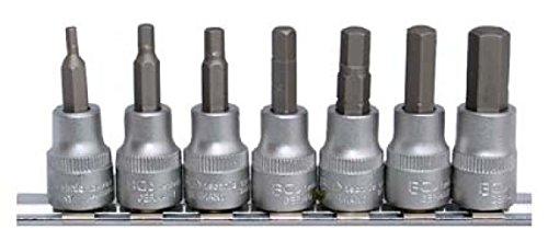 """BGS 5107   Bit-Einsatz-Satz   10 mm (3/8\"""")   Innensechskant 3 - 10 mm   7-tlg."""