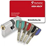 Cylindre de serrure VACHETTE RADIALIS A2P** Synkro - avec 4 clés - 001.Dimension extérieure - 32.50, 002.Dimension intérieure - 32.50
