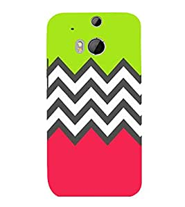 printtech Abstract Design zigzag Back Case Cover for HTC One M8::HTC M8
