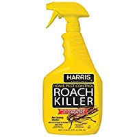 Harris Roach Killer, Liquid Spray with Odorless and Non-Staining 18-Month Extended Residual Kill Formula (32oz) USA