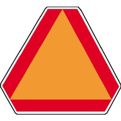 HY-KO PROD CO - Safety Emblem,Slow Moving Vehicle, Aluminum, 16 x 14-In. (Emblem Vehicle Safety)