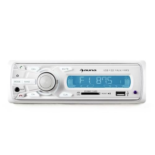 Auna md-620bt Bluetooth weiß Empfänger Multimedia-Auto–Empfänger Multimedia Kfz-(FM, LCD, Weiß, SD, SDHC, 190x 140x 60mm, 500g)