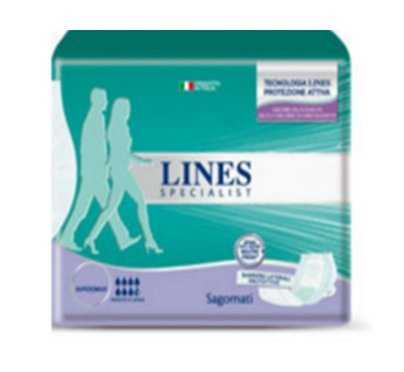 4 X PANNOLONI SAGOMATI LINES SPECIALIST per Adulti Super Maxi incontinenza