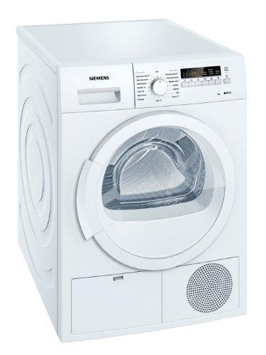 Siemens iQ700 WT46B200 iSensoric Kondenstrockner / B / 8 kg / weiß / softDry-Trommelsystem / Restlaufanzeige / Knitterschutz