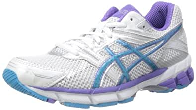 ASICS Women's GT-1000 W Running Shoes, White/Silver/Purple