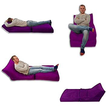 Beanbag Bed Chair Purple Indoor And Outdoor Extra Large Gaming Seat XXXL Weather Resistant (Waterproof)
