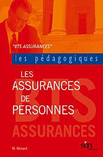 Les assurances de personnes : BTS Assurance par Julien Molard