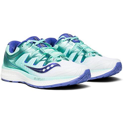 Saucony Women Triumph ISO 4 Neutral Running Shoe Running Shoes White - Light Blue 8