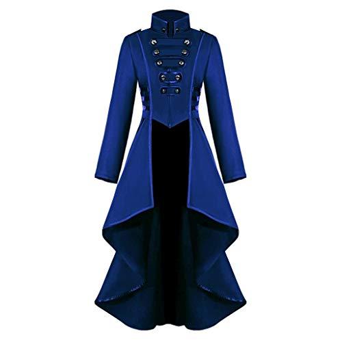 Weihnachten Kostüm Verleih - Innerternet Damen Langarm-Mantel Frack Jacke Gothic Gehrock Mode Steampunk Button Lace Retro-Smoking Männer Uniform Halloween Kostüm Party Oberbekleidung Plus Size