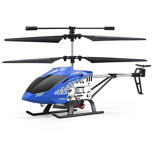 Currentiz Ferngesteuerter Hubschrauber RC Hubschrauber JJRC JX01 Starthöhe Mit Einem Knopfdruck Alloy Vier-Kanal-Ferngesteuerter Hubschrauber Absturzsicheres Flugzeug Für Kind