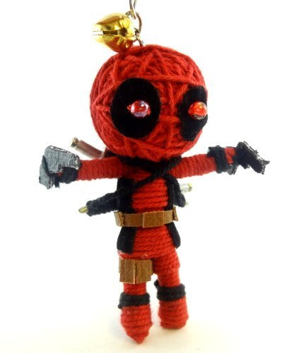 1 X Deadpool Voodoo String Doll Key Chain Handmade Red Superhero by Voodoo Magic