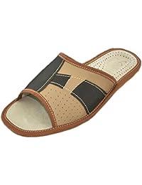 World of Leather - Zapatillas de estar por casa de Piel para niño