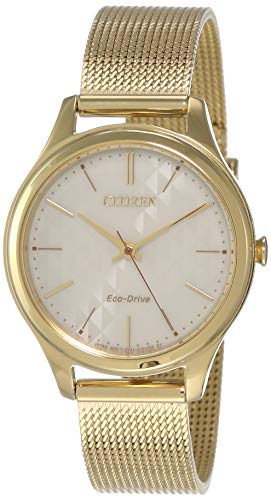Citizen Damen Analog Quarz Uhr mit Edelstahl Armband EM0502-86P