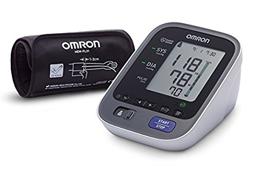 OMRON M7 Intelli IT Misuratore di Pressione da Braccio, Connessione Bluetooth per App OMRON Connect, Bracciale Intelli Wrap Cuff