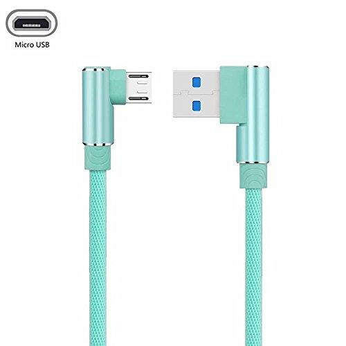 YANSHG USB Micro Kabel 90 Grad Doppelwinkel Geflochtene Daten Sync Schnelles Ladegerät USB Micro Kabel Für Samsung, XiaoMi, Huawei,LG, HTC, Nokia, Sony und mehr Android Micro Device(1M,2M,3M) Blackberry-handheld-batterie