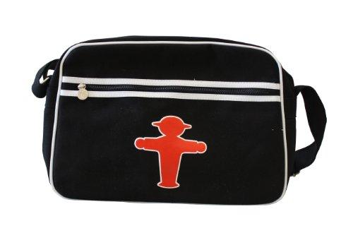 Ampelmann 108104412 - Sporttasche Canvas, Steher, schwarz (Umhängeband Bh)