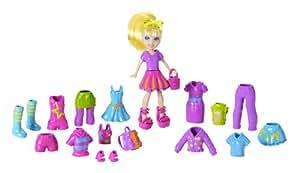 Polly Pocket Y7611 Polly Fashion Doll & Accessory - 20+ pieces