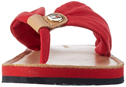 Tommy Hilfiger M1285onica 14d3, Sandales Bout Ouvert Femme Rouge (Tango Red 611)