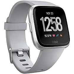 Fitbit Versa - Reloj Deportivo Smartwatch Deportivo, Unisex Adulto, Gris, Talla Única