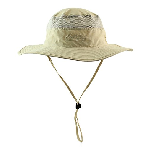 FR Clothinmall Femme Homme Capelines Sun Hat Fishing Cap Net Quick-dry Hat ColorF