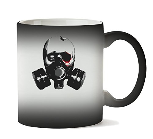PC Hardware Store Gas Mask Artwork Taza Calor Cambio De Color