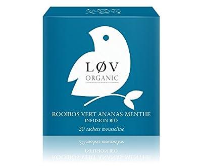 Løv Organic - Rooibos Vert Ananas-Menthe - Boîte de 20 sachets
