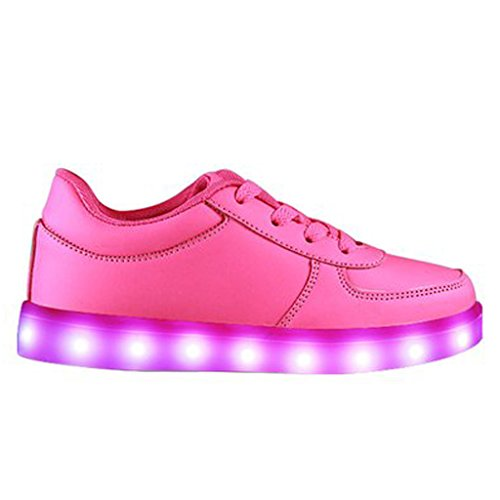 SAGUARO-Unisex-nios-USB-Carga-LED-Luz-Luminosas-Flash-Zapatos-Zapatillas-de-Deporte-para-Los-Reyes-Magos