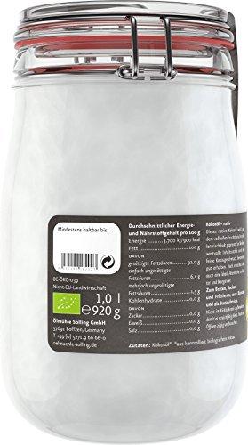 Ölmühle Solling Bio Kokosöl nativ im Bügel-Glas 1000ml - 2