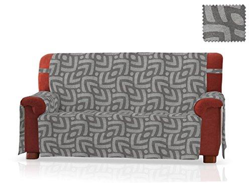 JM Textil Sofaschoner Pema Grösse 3 Sitzer(160 cm.), Farbe Grau