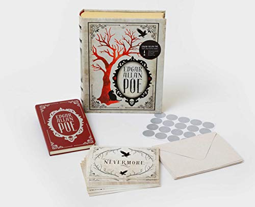 Edgar Allan Poe Deluxe Note Card Set (With Keepsake Book Box)