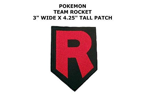 Athena Pokemon Go Team Rocket R 10,2 cm bestickter Aufnäher/Aufbügler