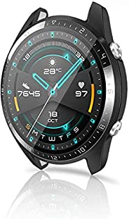MixColours Compatible for Huawei Watch GT 2 46mm Screen Protector Case, 1PCS Soft TPU Scratch-Resist Full-Cove
