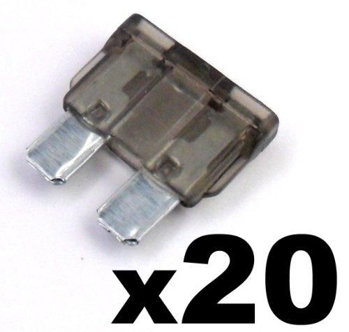 Preisvergleich Produktbild 20x Sicherung Standard - Flachsicherung Autosicherung - 2 A Amp Grau - Für Kfz,  Elektronik und Hobby - KOSTENLOSER VERSAND!