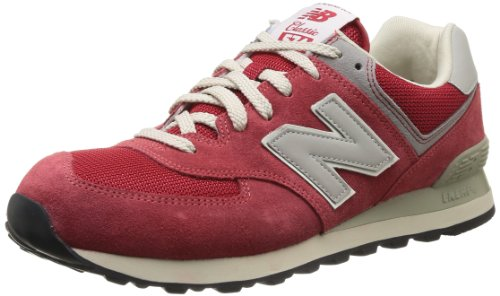 New Balance ML574 ML574DRD, Baskets Mode Homme Rouge