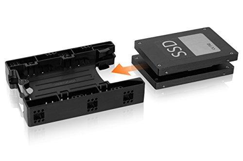 Einbaurahmen für 2 x 2,5 Zoll (6,4cm) SSDs/HDDs in 1 x 3,5 Zoll (8,9cm) - Icy Dock EZ-Fit Light MB290SP-B (Ez Montieren)